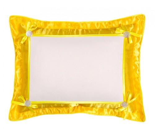 Подушка прямоугольная Белла 45*35 желтая 21*30