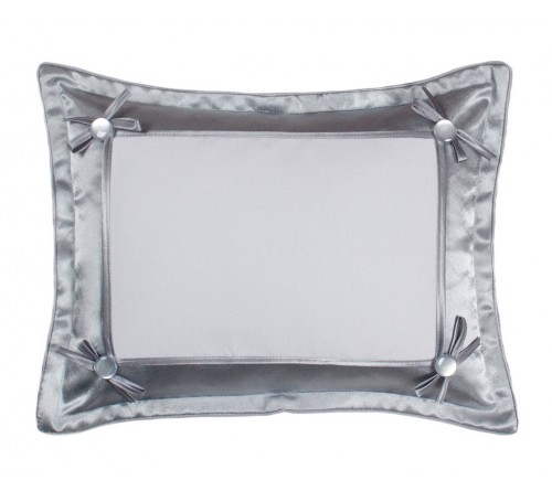 Подушка прямоугольная Белла 45*35 серебро-металлик 21*30