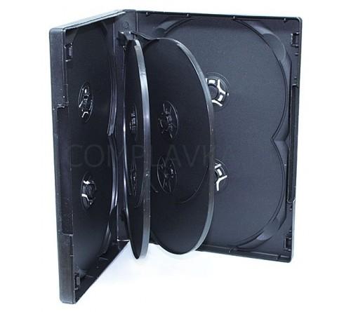 DVD бокс Стандарт 14 мм  DVD-  8  Черный Глянцевый (50)