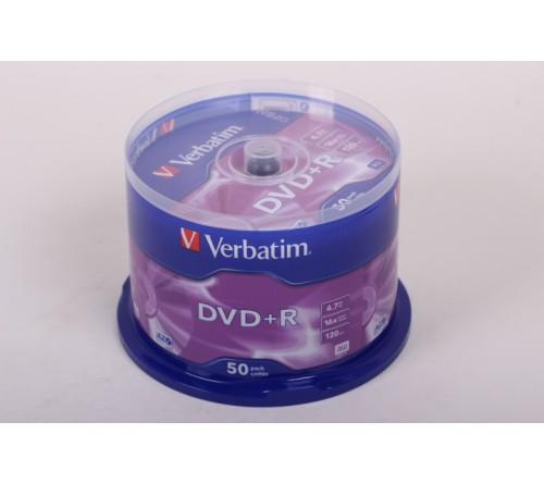 DVD+R       VERBATIM  4.7Gb 16x  (Cake   50)(200)