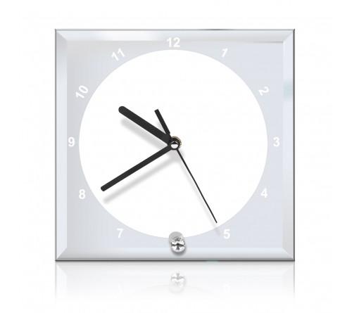 Часы стеклянные квадратные BL-14 20*20 см
