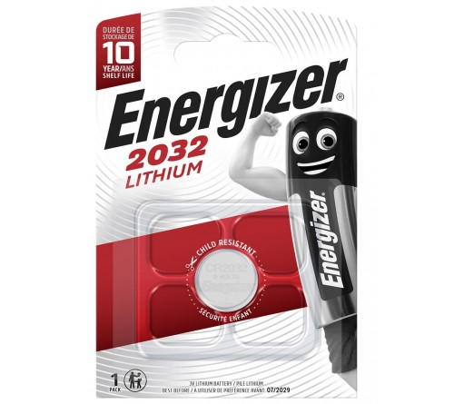 Батарейка ENERGIZER     CR2032  ( 1BL)(  10)