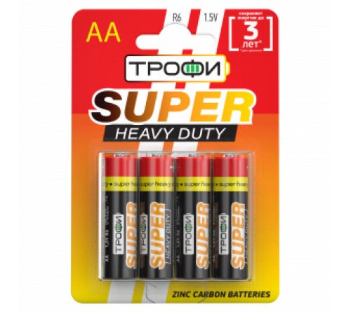Батарейка ТРОФИ            R6  (4BL)(40)(720) Блистер