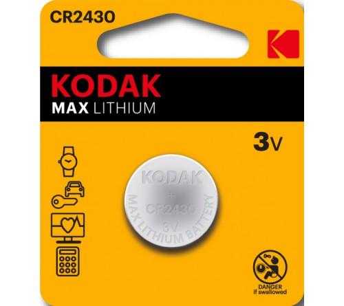 Батарейка KODAK              CR2430  ( 1BL)(  60)(120)