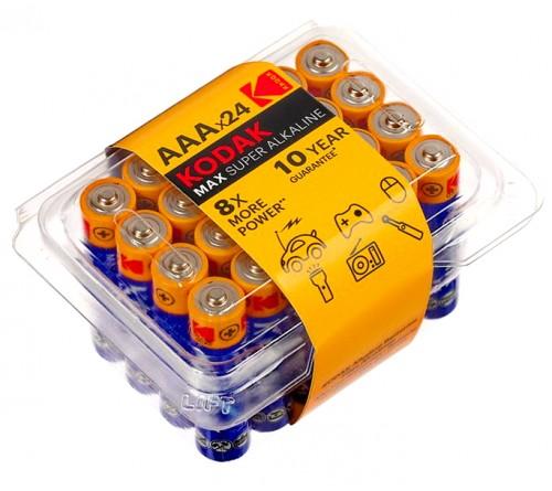 Батарейка KODAK             LR03  Alkaline  (    24)(480) MAX Plastic Box 24