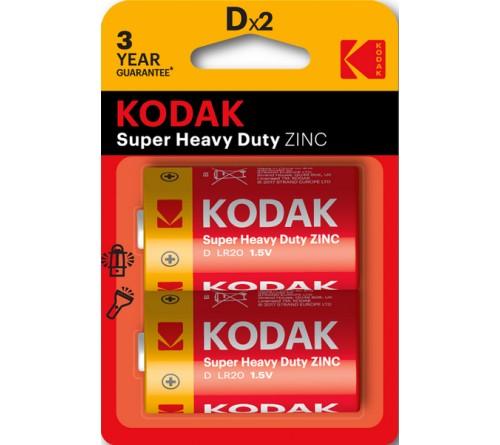 Батарейка KODAK             R20  (2BL)(24)(120)  Блистер