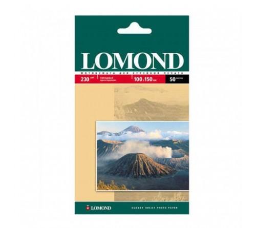 Фотобумага LOMOND  10x15 230г/м2 Односторонняя Глянцевая                    50л  (56)