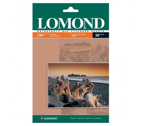 Фотобумага LOMOND  15x20 230г/м2 Односторонняя Матовая                       50л  (30)
