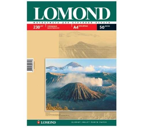 Фотобумага LOMOND  A4      230г/м2 Односторонняя Глянцевая                    50л  (14)