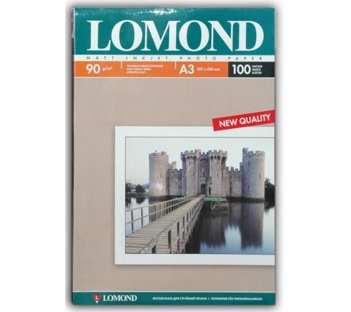 Фотобумага LOMOND A3        90г/м2 Односторонняя Матовая                     100л  (12)