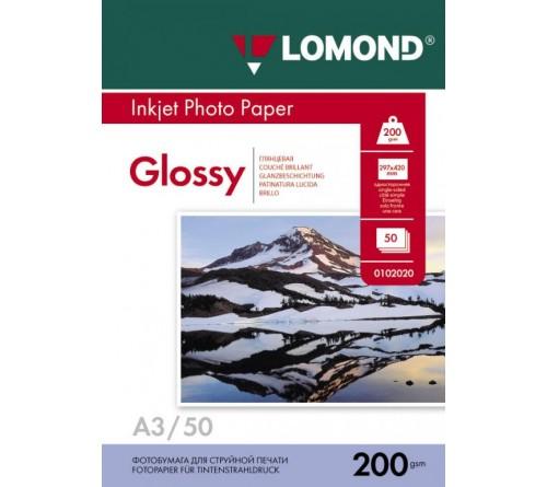 Фотобумага LOMOND A3       200г/м2 Односторонняя Глянцевая                    50л  (11)