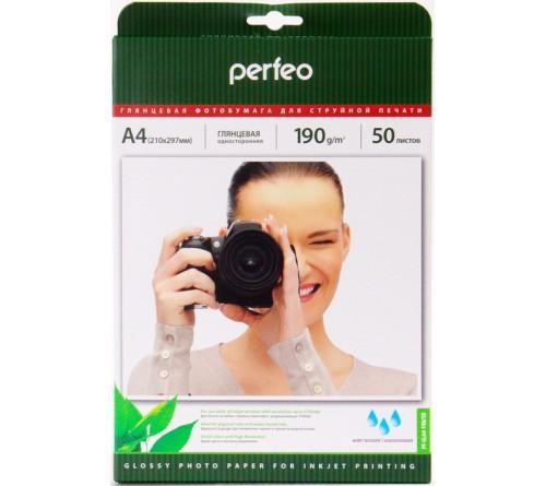 Фотобумага Perfeo      A4      190г/м2 Односторонняя Глянцевая                     50л  (20)