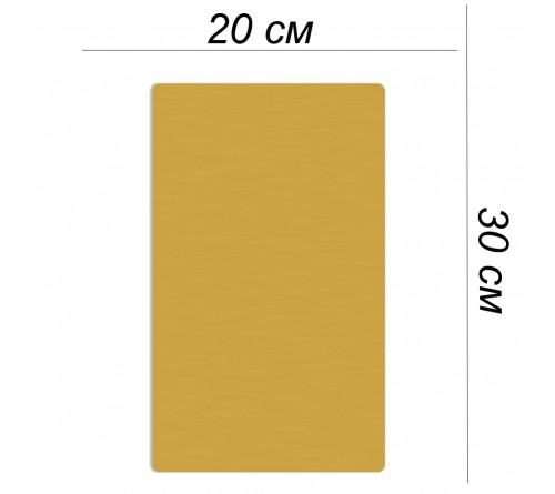 Металлическая пластина 20х30 золото сатин