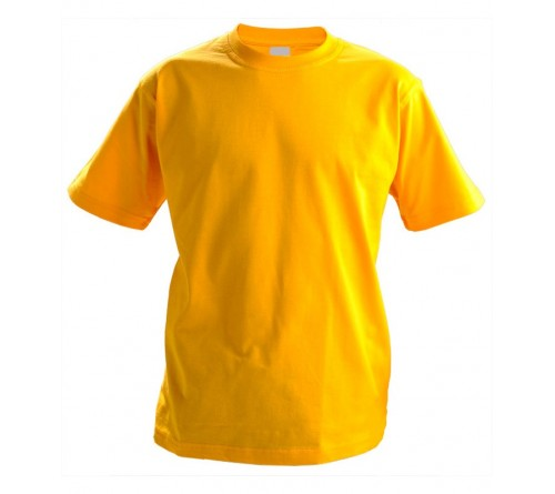 Футболка детская желтая х/б 160гр р 30, 4XS (110-116)