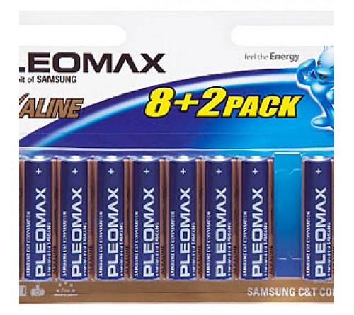 Батарейка SAMSUNG       LR6  Alkaline  (8+2BL)(100)(600)  Pleomax