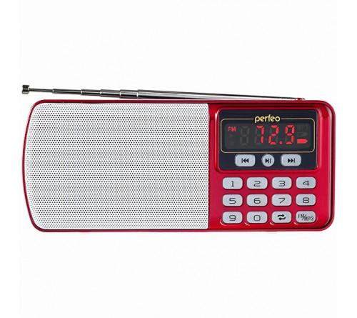Радиоприемник-миниспикер Perfeo PF-I120-RED Егерь                           FM,MP3 USB,microSD BL-5C Red