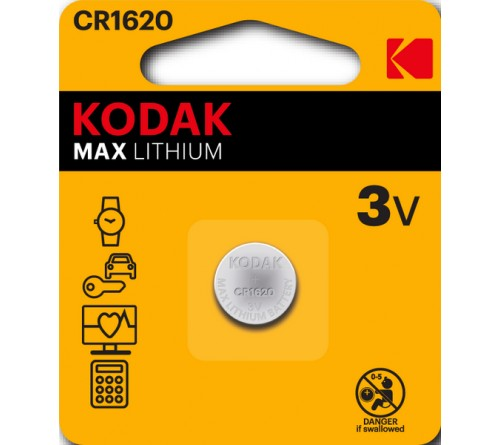 Батарейка KODAK              CR1620  ( 1BL)(  60)(120)