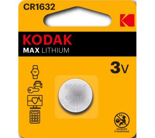 Батарейка KODAK              CR1632 ( 1BL)(  60)(120)