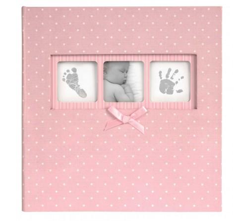 Innova Q4103612M Фотоальбом 200 фото 10*15 Детский розовый в горошек, кармашки