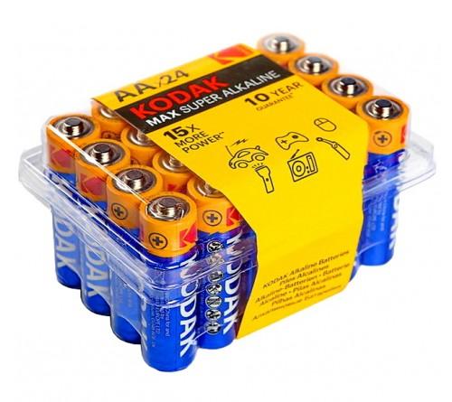 Батарейка KODAK             LR6  Alkaline  (    24)(480) MAX Plastic Box 24
