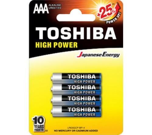 Батарейка TOSHIBA         LR03  Alkaline  (  4BL)(48)(192)