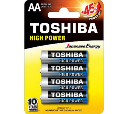 Батарейка TOSHIBA         LR6  Alkaline  (  4BL)(48)(192)
