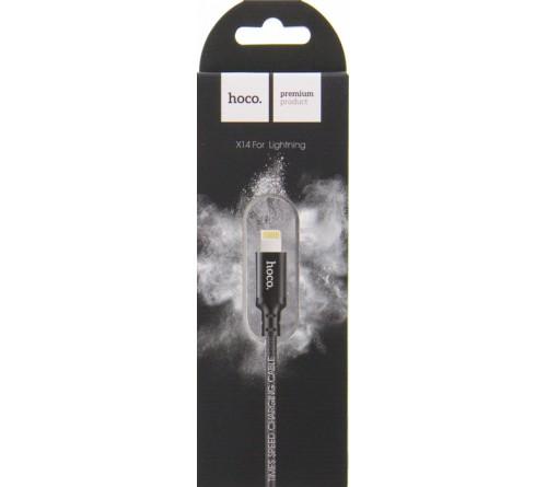 Кабель  USB - Lighting iPhone Hoco X 14 Times 1.0 m, Black,коробочка