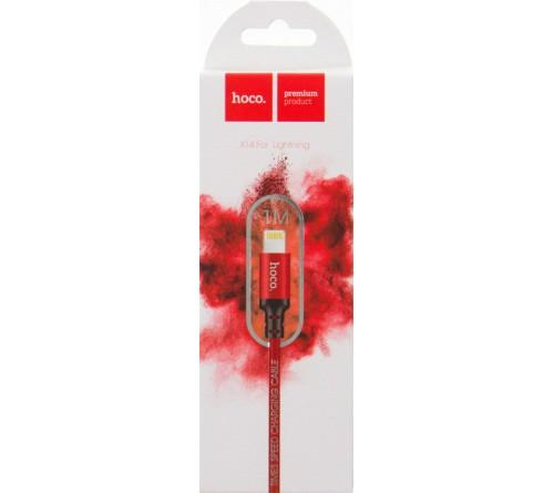 Кабель  USB - Lighting iPhone Hoco X 14 Times 1.0 m, Red-Black,коробочка