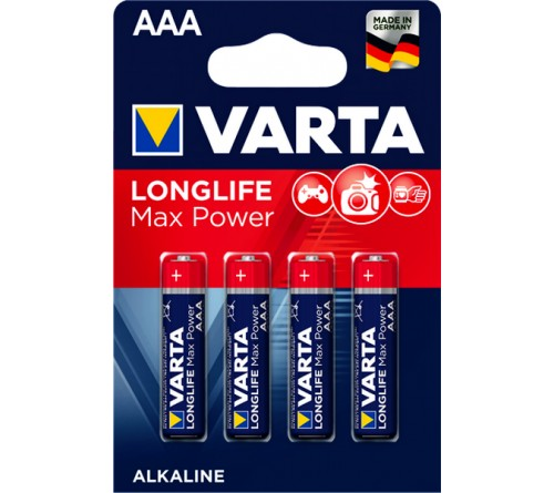 Батарейка VARTA             LR03  Alkaline  (  4BL)(40)(200) Max Tech/ L Max Power