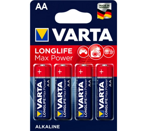Батарейка VARTA             LR6  Alkaline  (  4BL)(80)(400)  4706  Max Tech/ L. MAX POWER