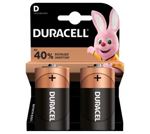 Батарейка DURACELL     LR20   Alkaline  (2BL)(20)
