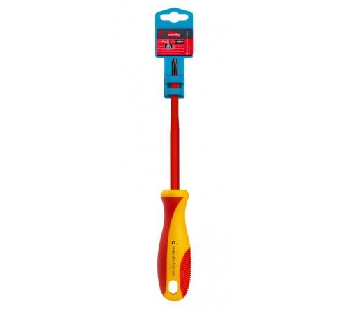 Отвертка Диэлектрическая Крестовая Smartbuy (SBT-SCI-PH2x100P1) до 1000В, VDE, прорез.ручка, серт. испыт. Tools