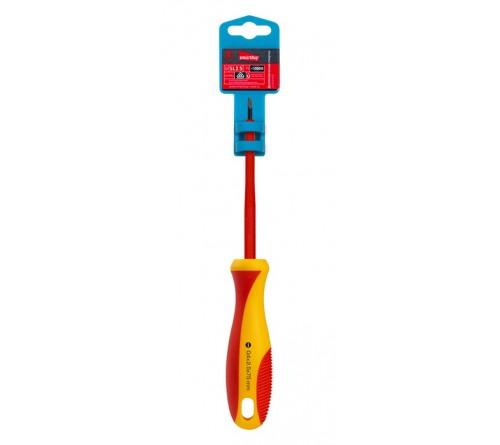 Отвертка Диэлектрическая Шлицевая  Smartbuy (SBT-SCI-SL25x 75P1) до 1000В, VDE, прорез.ручка, серт. испыт. Tools