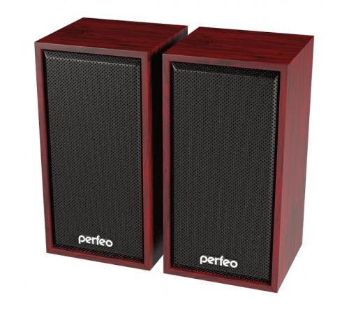 Колонки Perfeo PF-  084         Cabinet       2.0 (2*   3W)  Дерево Махагон,USB.для Ноутбука