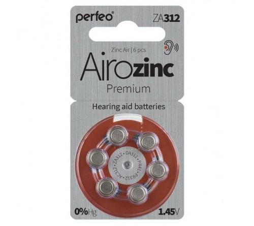 PERFEO        ZA 312  ( 6BL)(60) Airozinc Premium для слуховых аппаратов 1.4 V