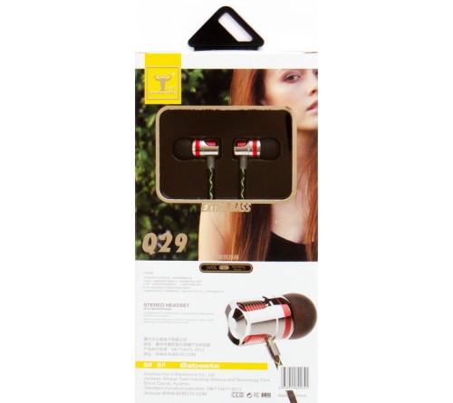 Гарнитура Bsbeste Q 29                      (Вакуумная)             (10) Chrome-Red  HiFi ДУ Регулятор Громкости