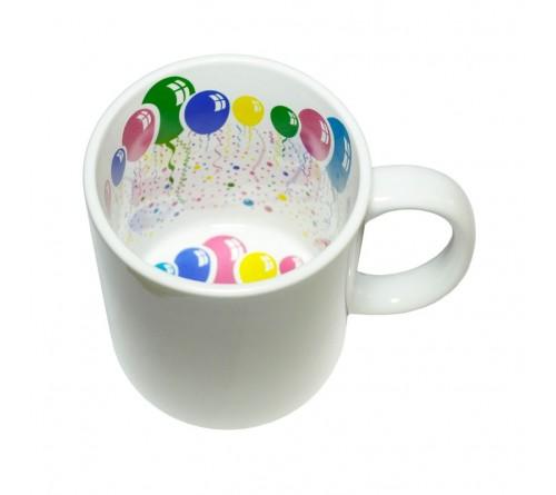 Кружка белая ПРИНТ С праздником! внутри, для сублимации 330 мл         (36)
