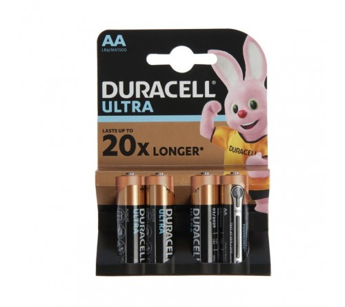 Батарейка DURACELL      LR6    Alkaline  (    4BL)(80)  ULTRA POWER
