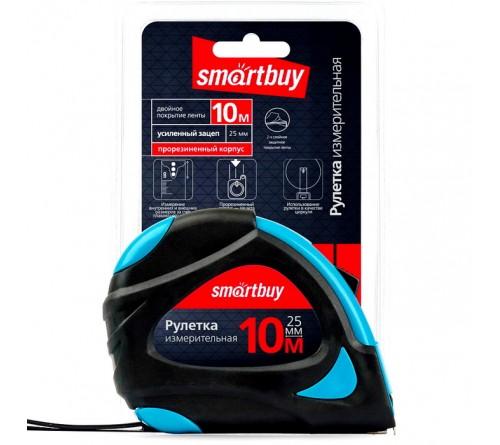 Рулетка измерительная Smartbuy (SBT-MTP-1025P2) 10мх25мм, прорезиненный корпус, 2 фиксатора, усиленный зацеп, Tools