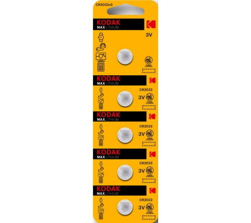Батарейка KODAK              CR2032  ( 5BL)(  60)(360)