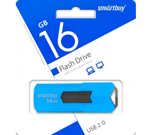 USB Флеш-Драйв  16Gb  Smart Buy Stream Blue