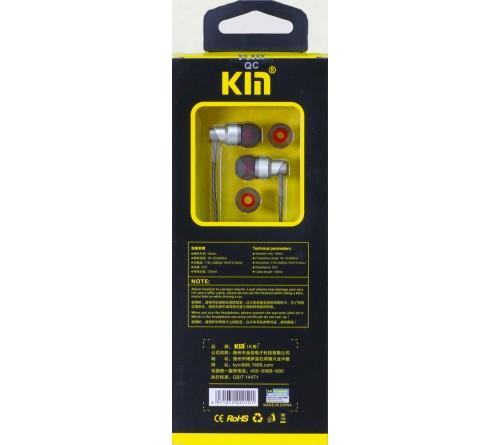 Гарнитура KYIN K 998                        (Вакуумные)             (10) Silver  HiFi ДУ BASS