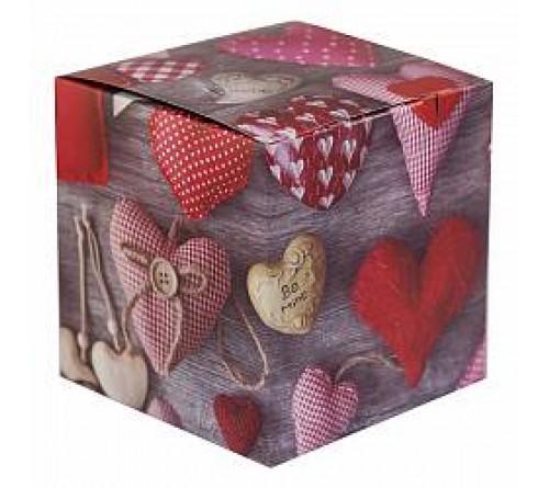 Подарочная коробка для кружки Сердечки 3D