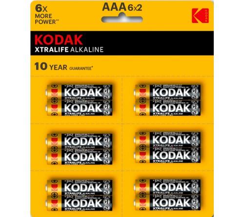 Батарейка KODAK             LR03  Alkaline  (6*2BL)(144)(576) XTRALIFE Perforated (KAAA-2x6 perf)