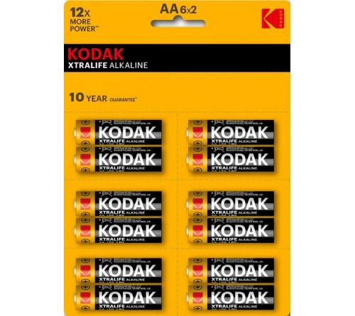 KODAK             LR6  Alkaline  12BL perforated (6x2BL) XTRALIFE  [KAA-2x6 perf] (144/576)