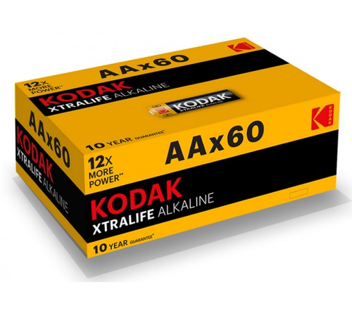 Батарейка KODAK             LR6  Alkaline  60 (4S) colour box XTRALIFE  [KAA-60] (60/720)