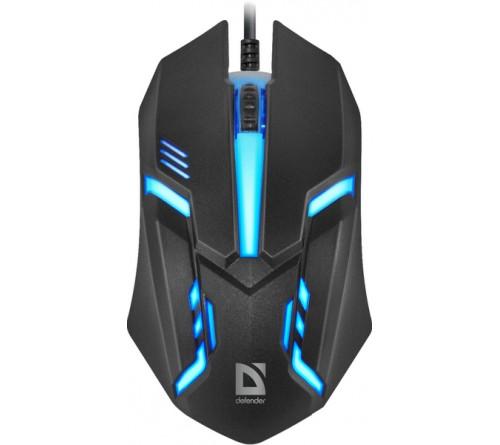 Мышь DEFENDER    550 Hit              (USB,  1200dpi,Optical) Black.7 цветов подсветки