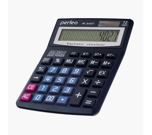 Калькулятор PERFEO PF A4027           (Бухгалтерский, 12-разрядов) Black