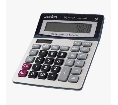 Калькулятор PERFEO PF A4028           (Бухгалтерский, 12-разрядов) Silver