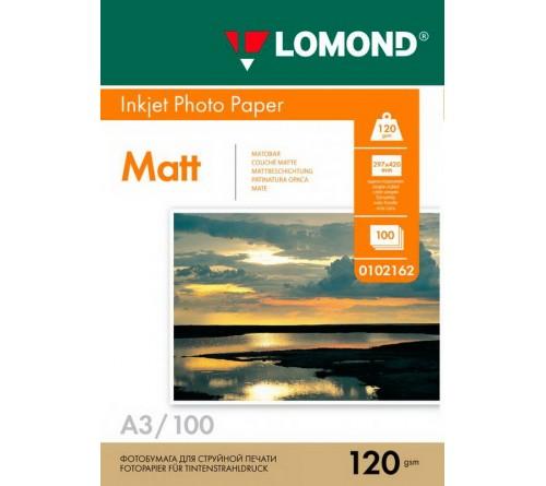 Фотобумага LOMOND A3       120г/м2 Односторонняя Матовая                        100л  (9)